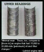 Upper Bearings Show Minimal Wear